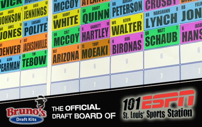 a7e09c47775 Bruno s Draft Kits  Premium Fantasy Football Draft Boards